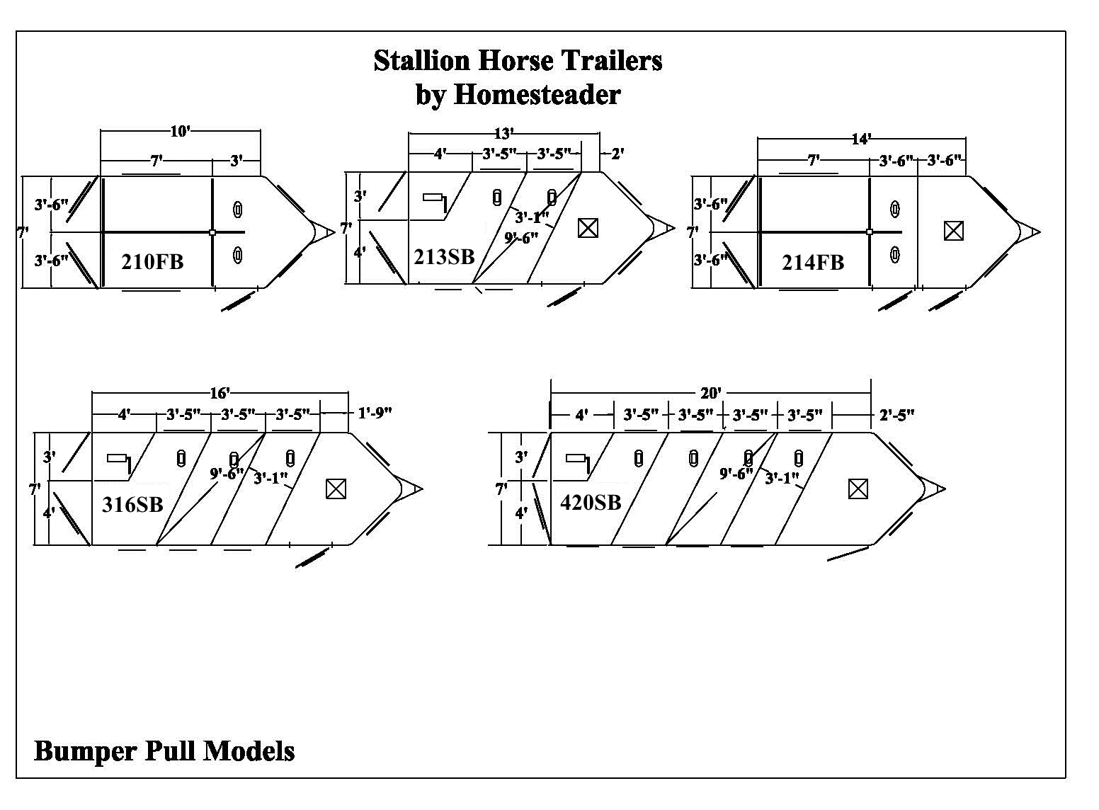 Stallion Horse Trailers | Homesteader Trailers