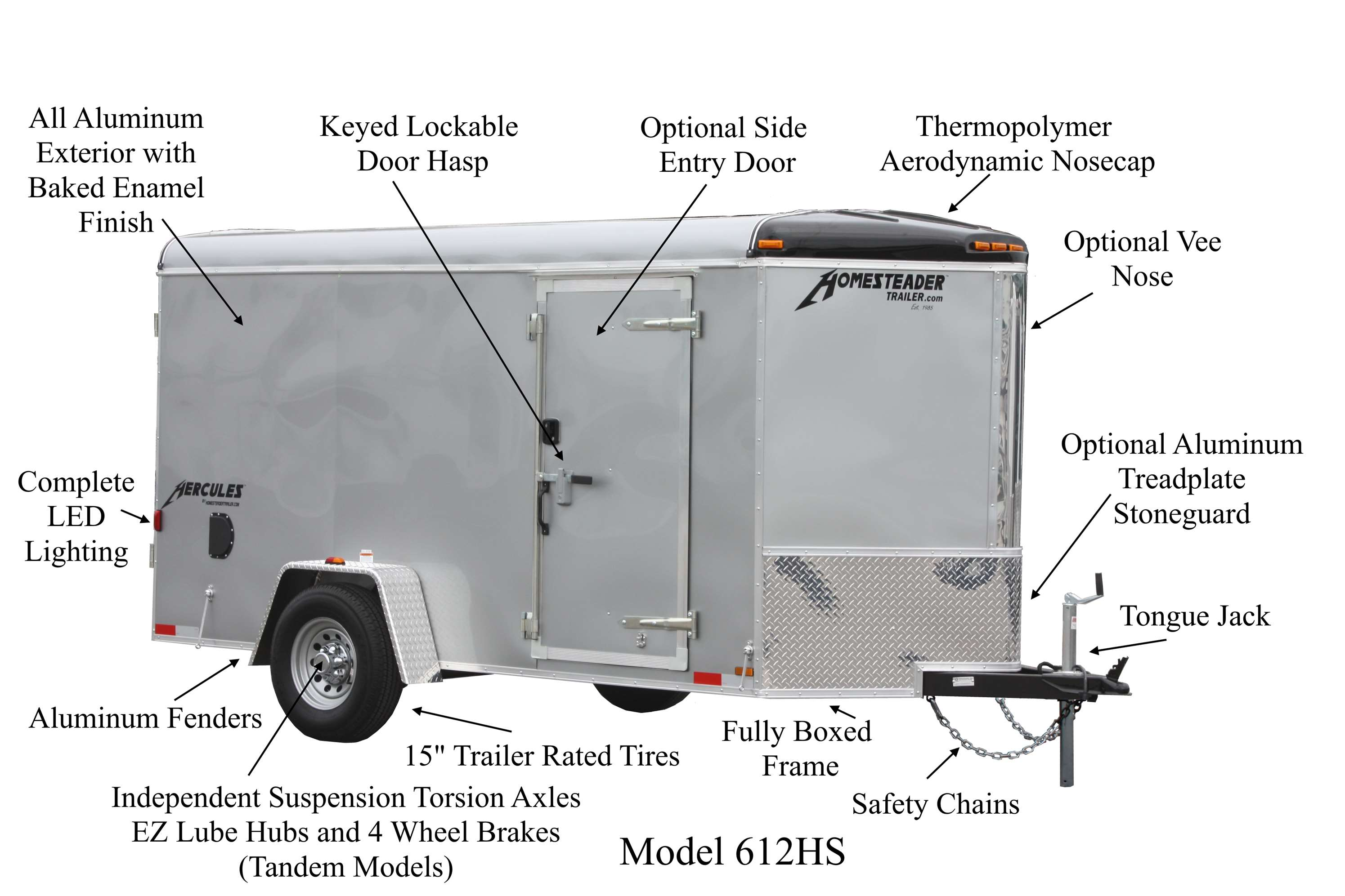 The Hercules must go through rigorous measures during manufacturing to  insure the quality you expect from a Homesteader trailer. We begin with the  finest ...
